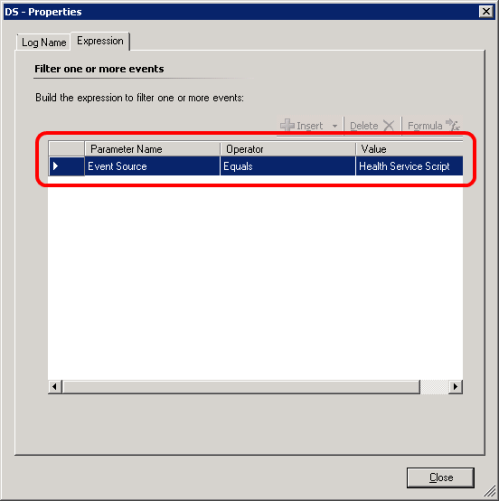 Collect MSMQ Log Detail Script Events rule configuration