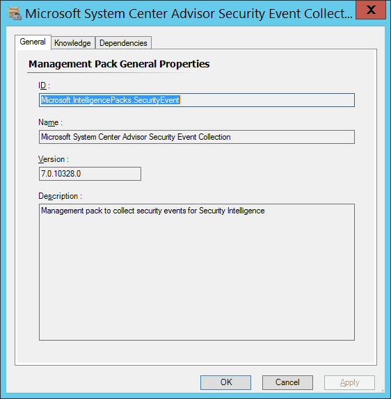 Microsoft System Center Advisor Security Event Collection